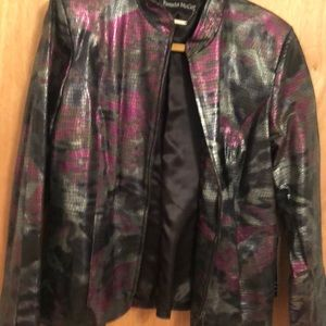 Pamela McCoy designer genuine leather jacket